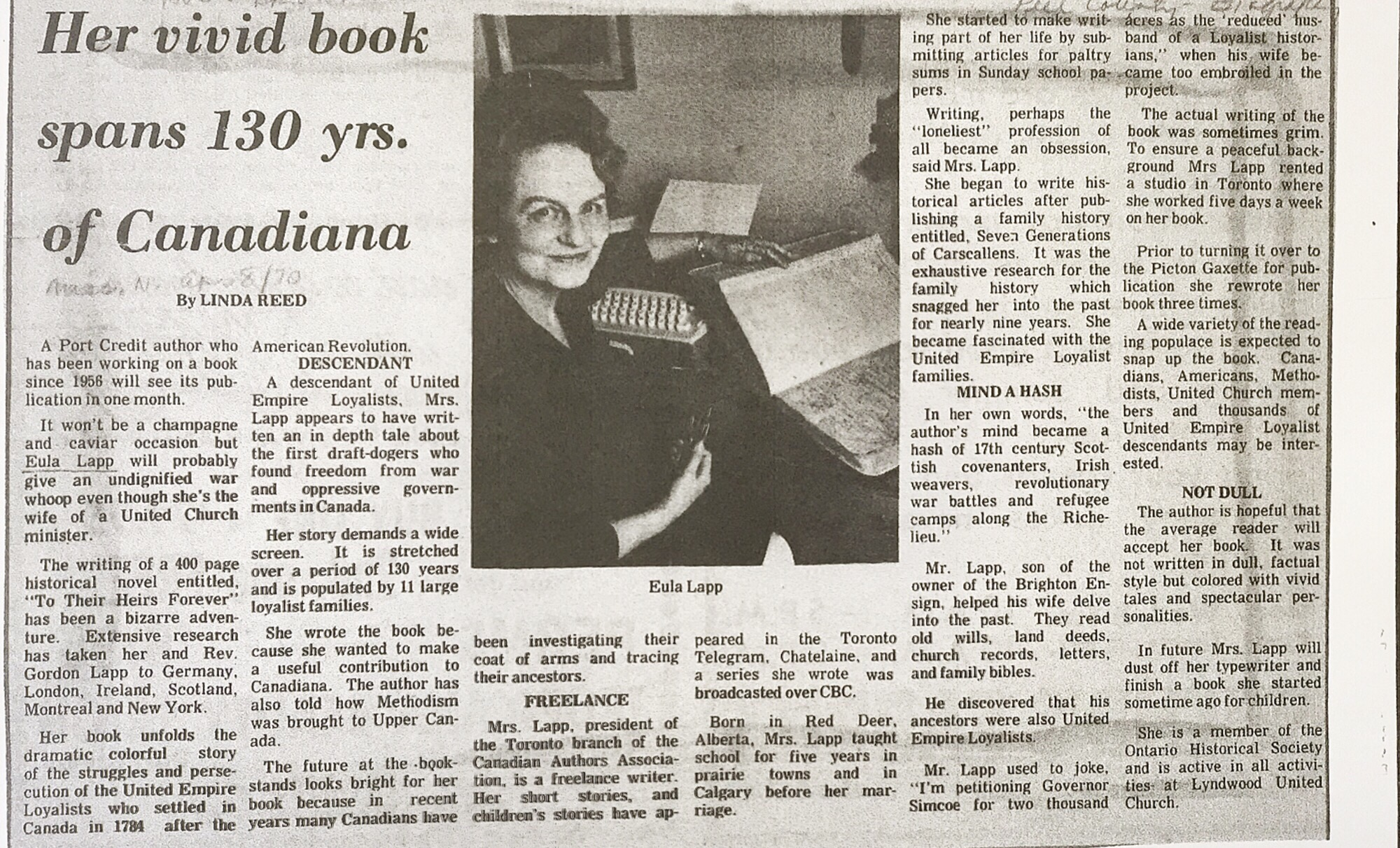 The Mississauga News - April 08 1970