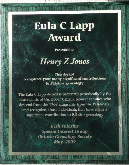 Eula C Lapp Award